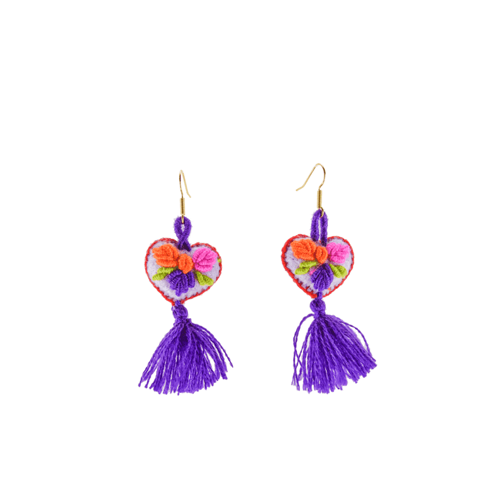 The Love-ly Earrings in Purpura- Small - Josephine Alexander Collective