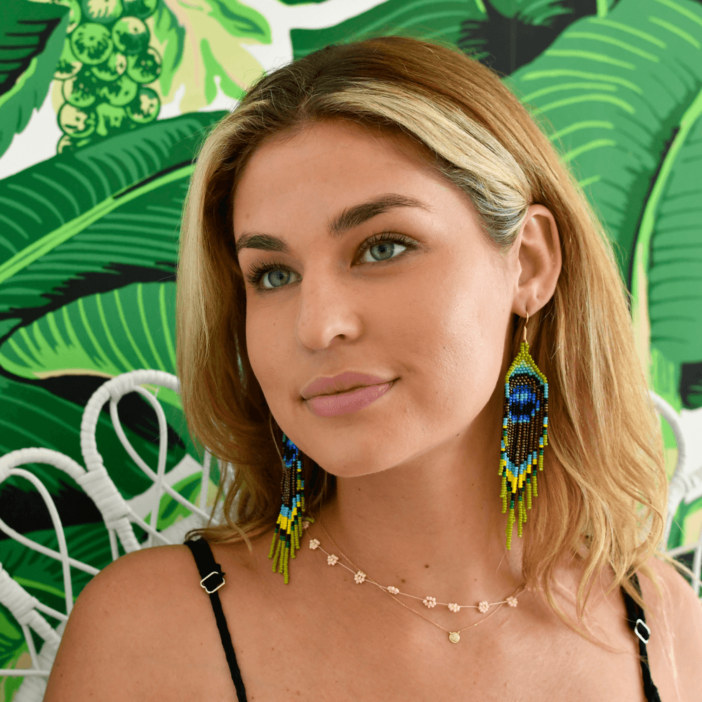 Royal Peacock Earrings - Josephine Alexander Collective