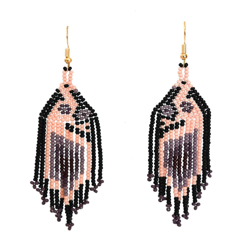 Bird of Paradise Earrings in Lilac