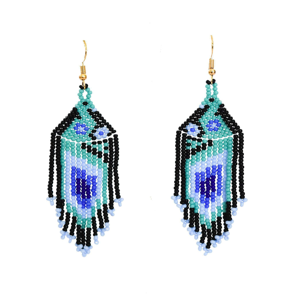 Bird of Paradise Earrings in Surf