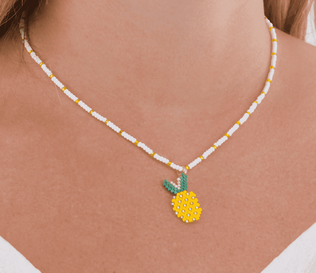 Pineapple Piña Colada Necklace - Josephine Alexander Collective