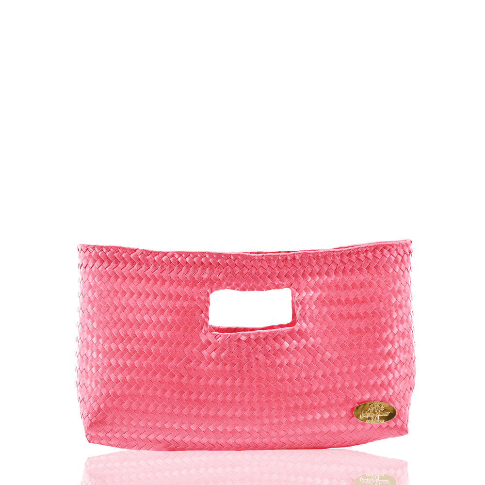 Alison Woven Clutch in  Pink