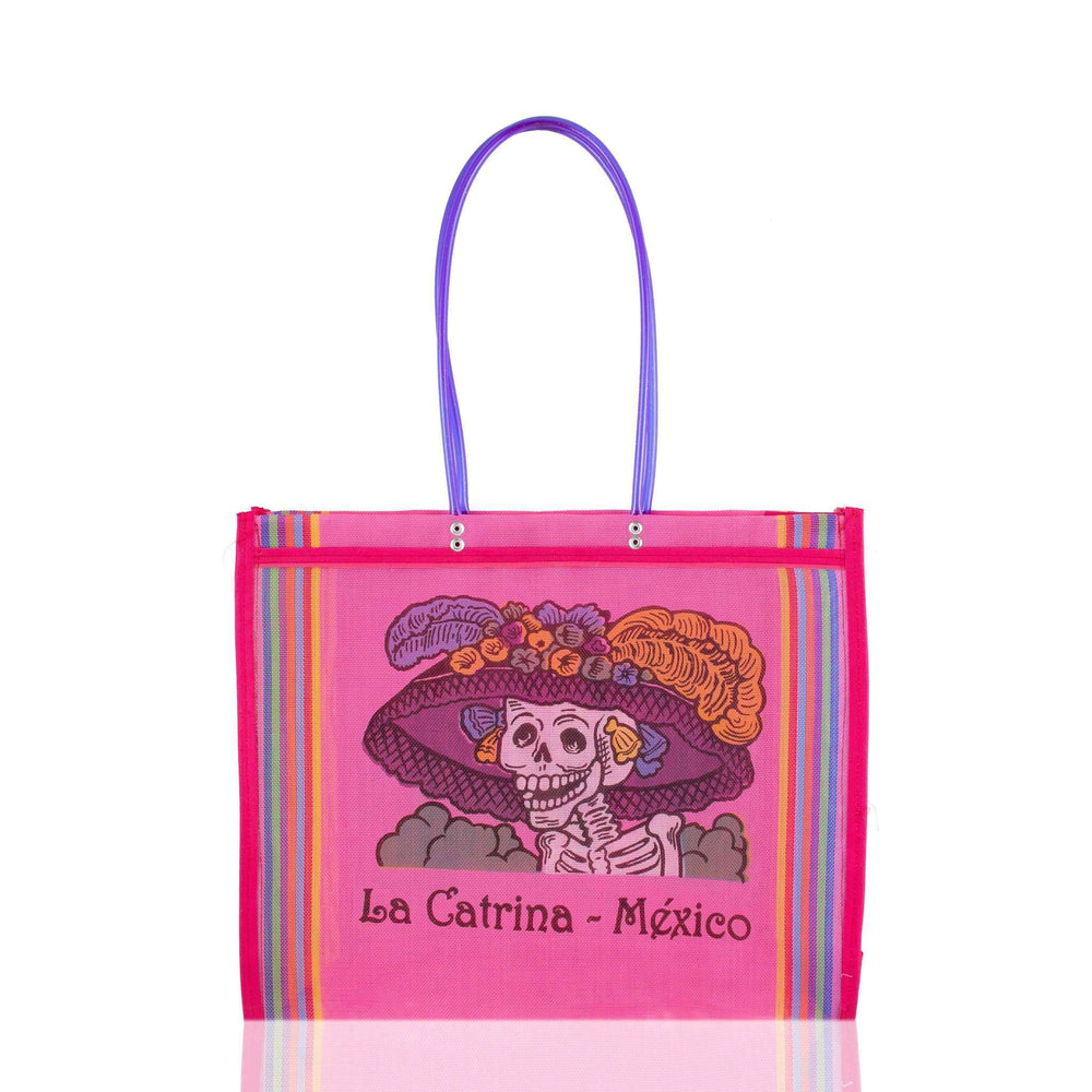 Dia del Muerto Market Bag in Pink
