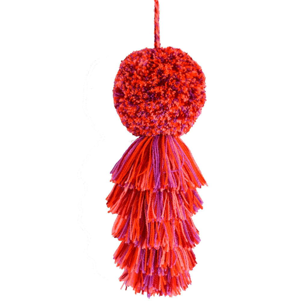 Large Pom Tassel in Berries