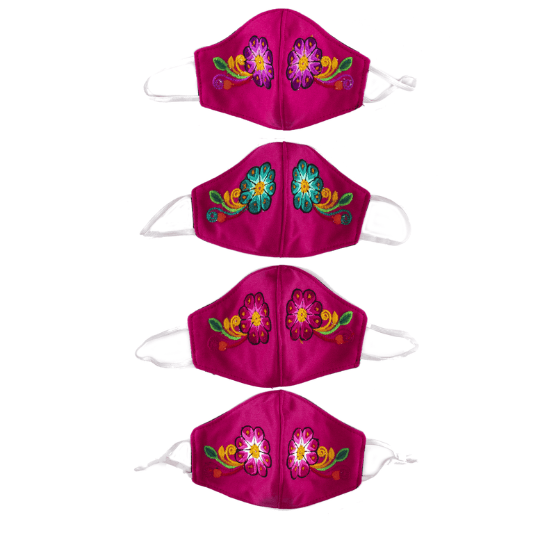 Feli Masks - Hot Pink Flowers - Josephine Alexander Collective