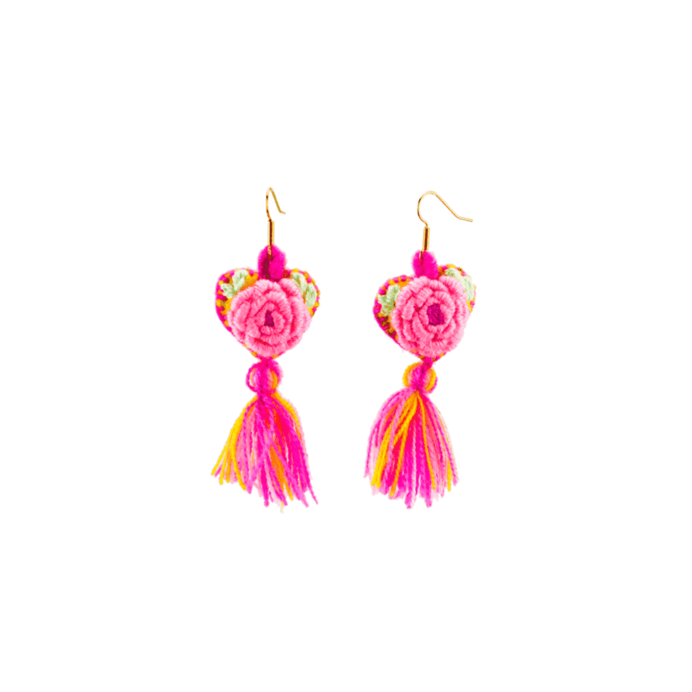 The Love-ly Earrings in Roses- Small - Josephine Alexander Collective
