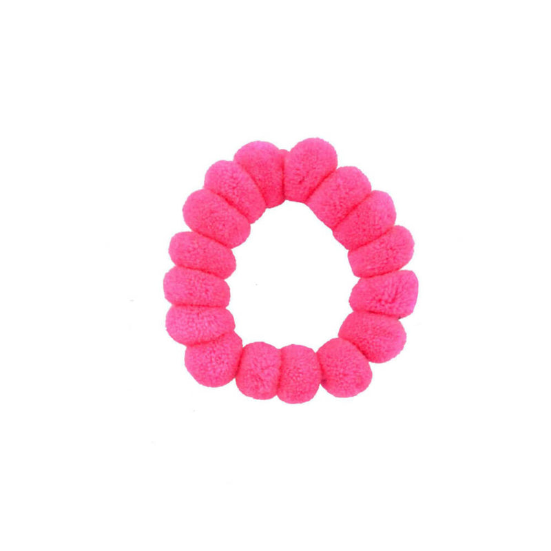 Pom Scrunchie in  Hot Pink - Josephine Alexander Collective