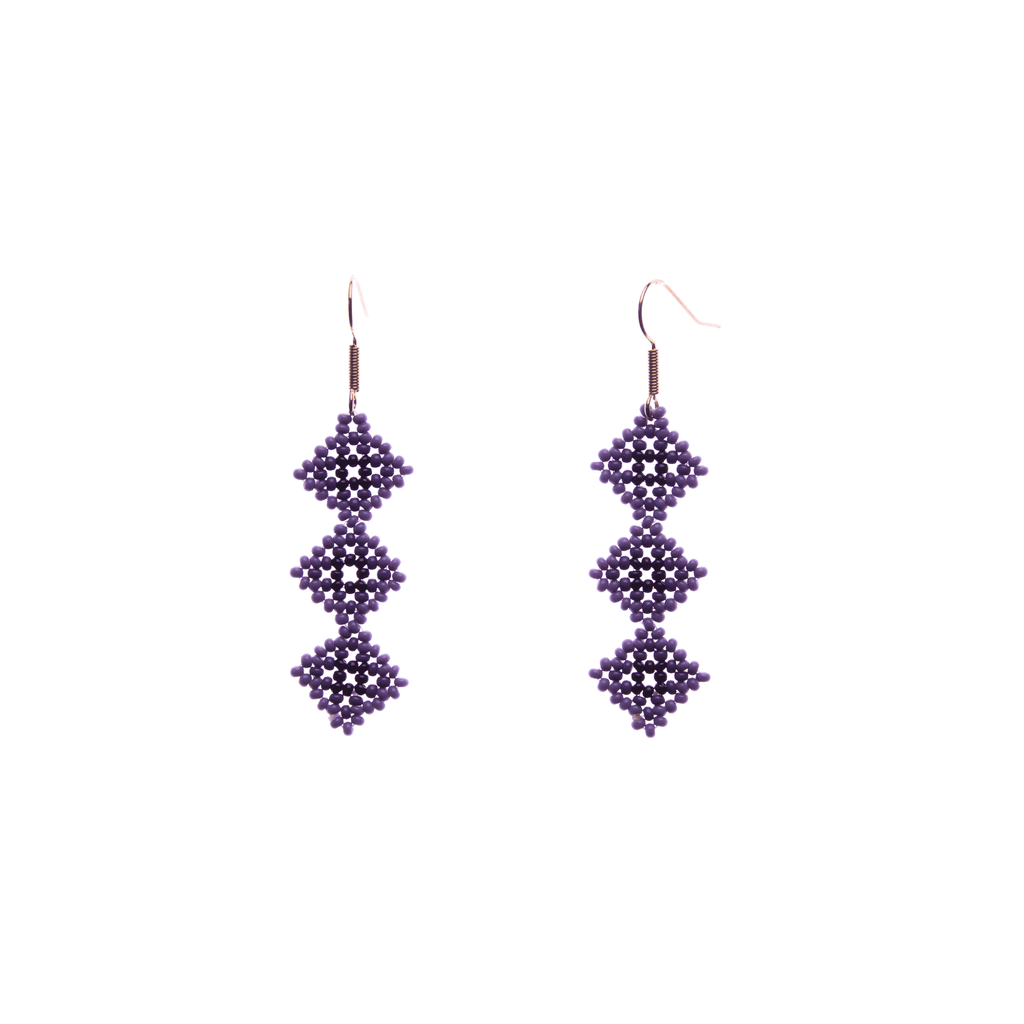 Tile Earrings in Purple - Josephine Alexander Collective