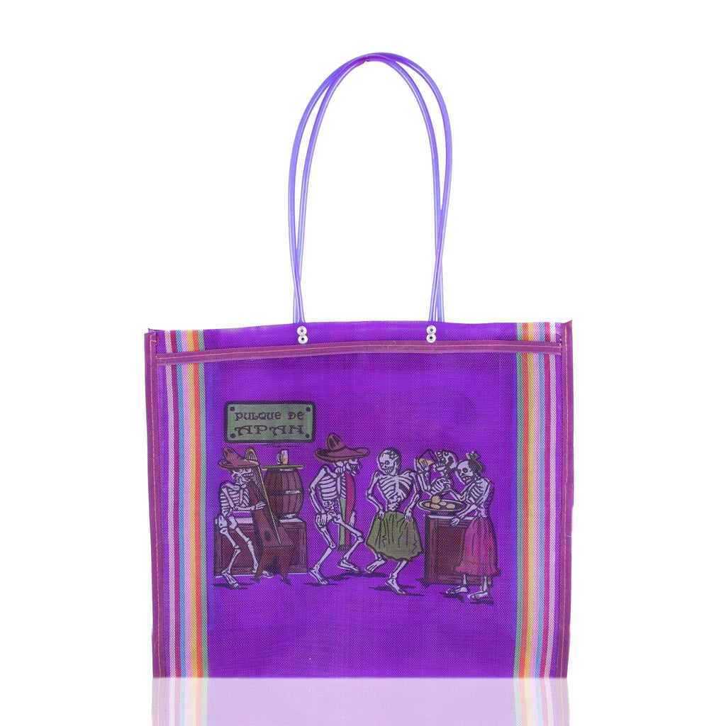 Dia de Muertos Market Bag in Purple