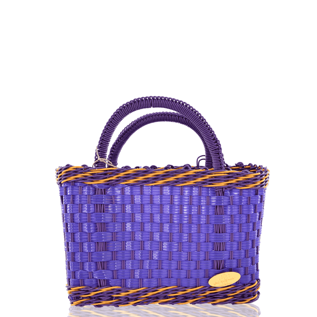 Jessica Basket Bag in Purple and Dark Purple - Josephine Alexander Collective