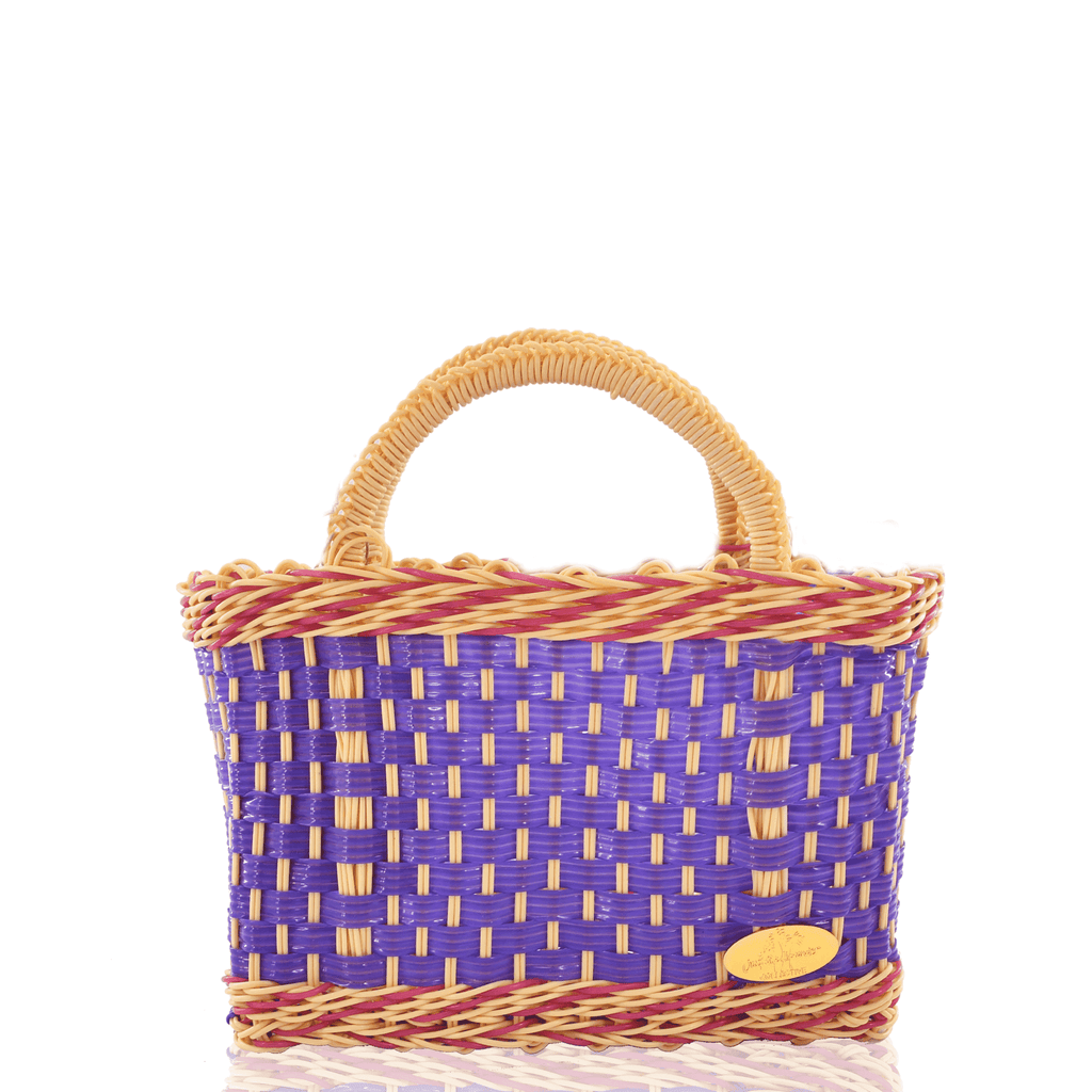 Jessica Basket Bag in Purple and Ivory - Josephine Alexander Collective