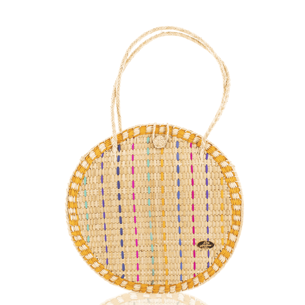 Luna Straw Bag in Yellow