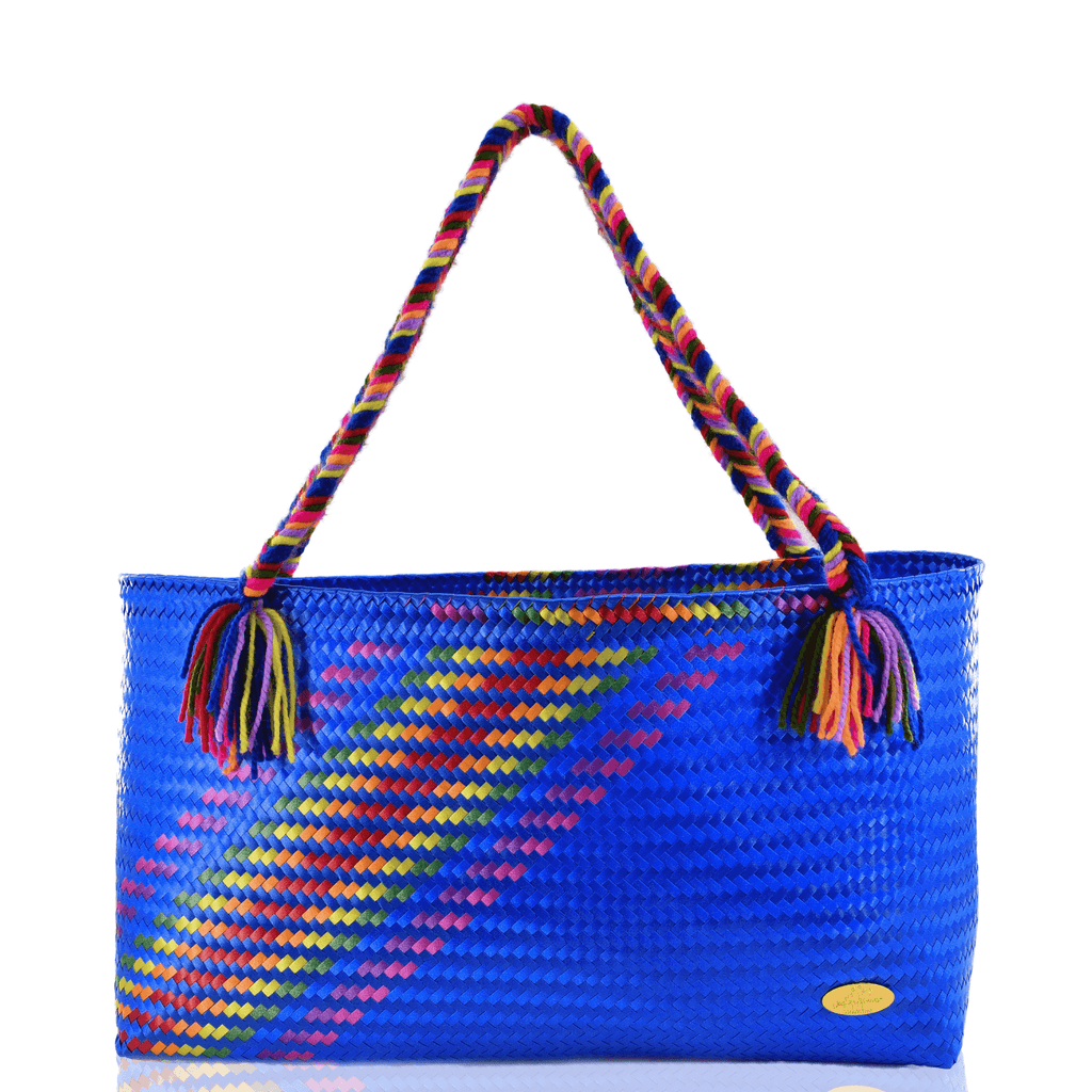 The Nicky Bag in Blue Splash of Rainbow - Josephine Alexander Collective