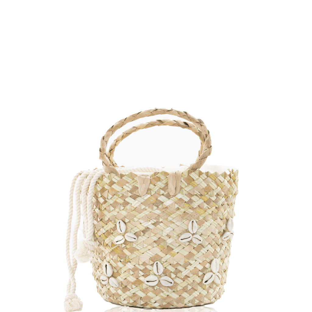 Mauritius Cowrie Shell Bucket Bag - Josephine Alexander Collective