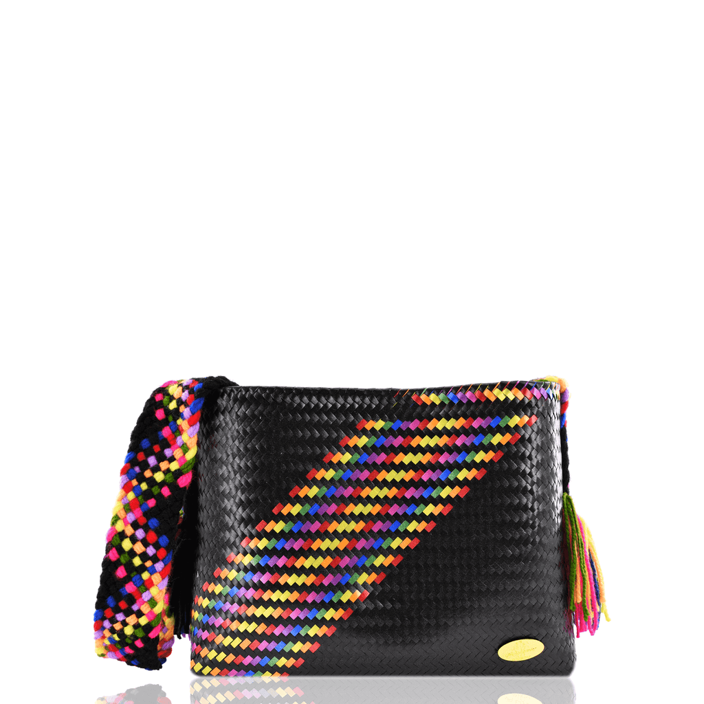 Colleen Crossbody in Black Splash of Rainbow - Josephine Alexander Collective