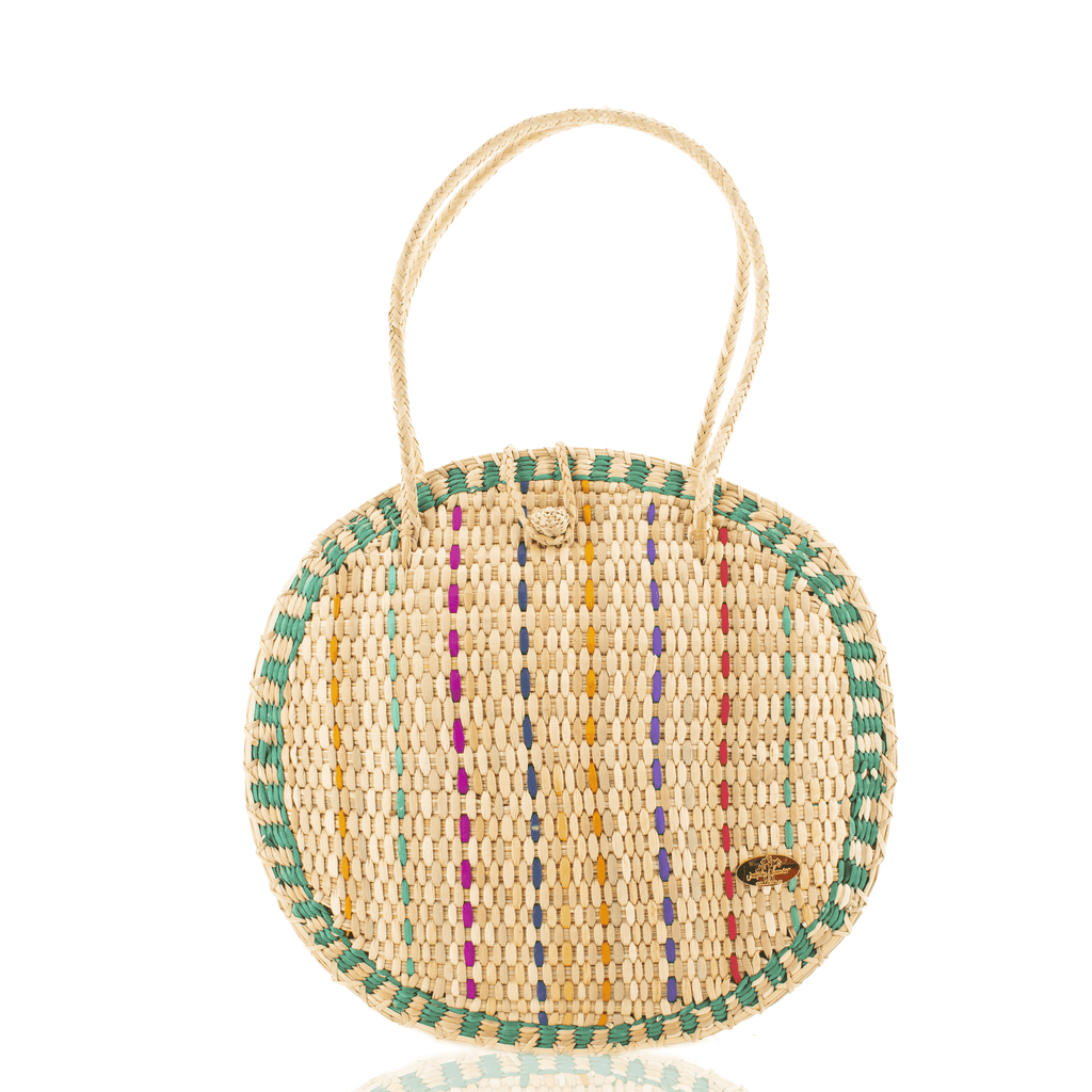 Luna Straw Bag in Mint