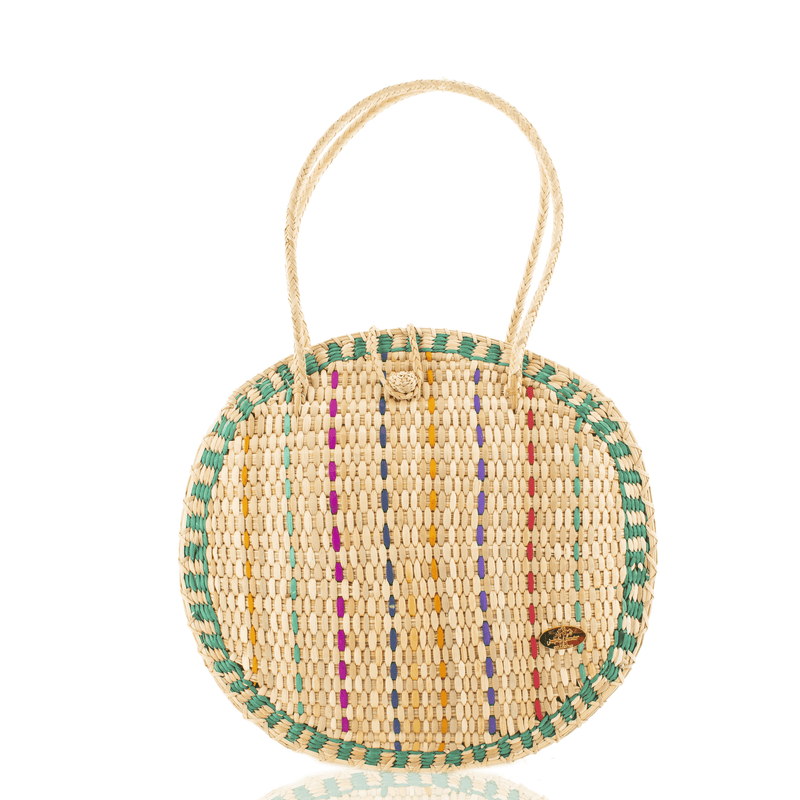 Luna Straw Bag in Mint - Josephine Alexander Collective
