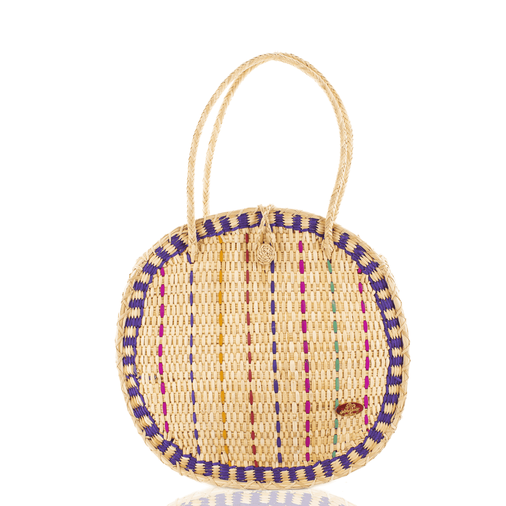 Luna Straw Bag in Purple - Josephine Alexander Collective