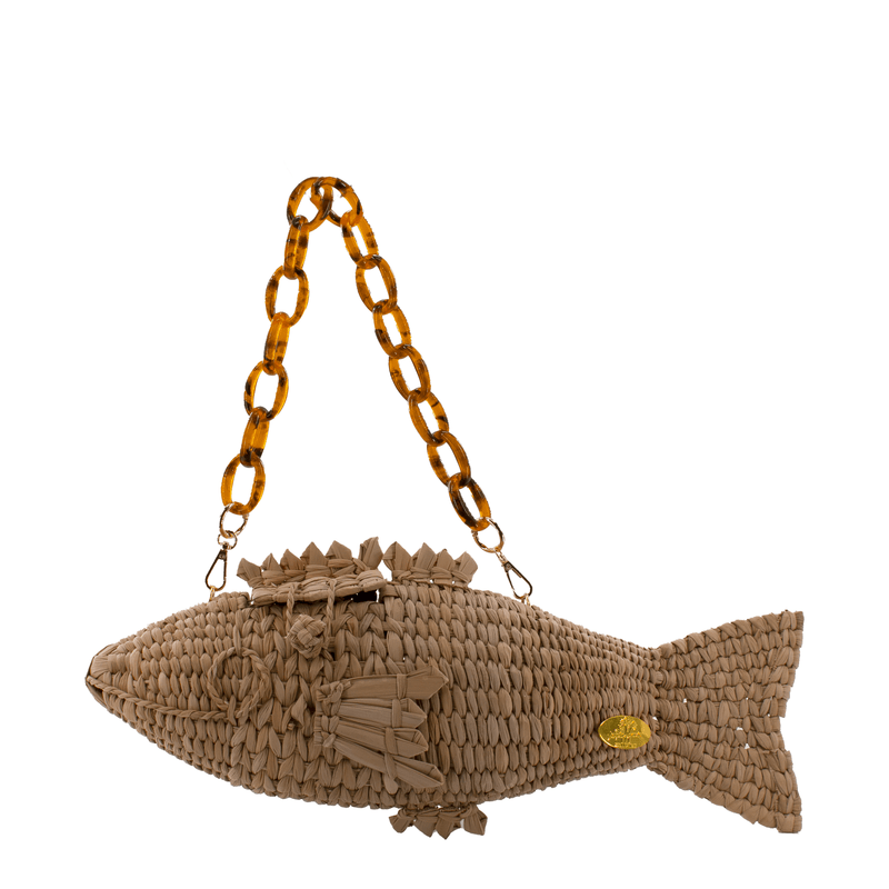 Wild Thing- Frannie the Fish Straw Bag - Josephine Alexander Collective