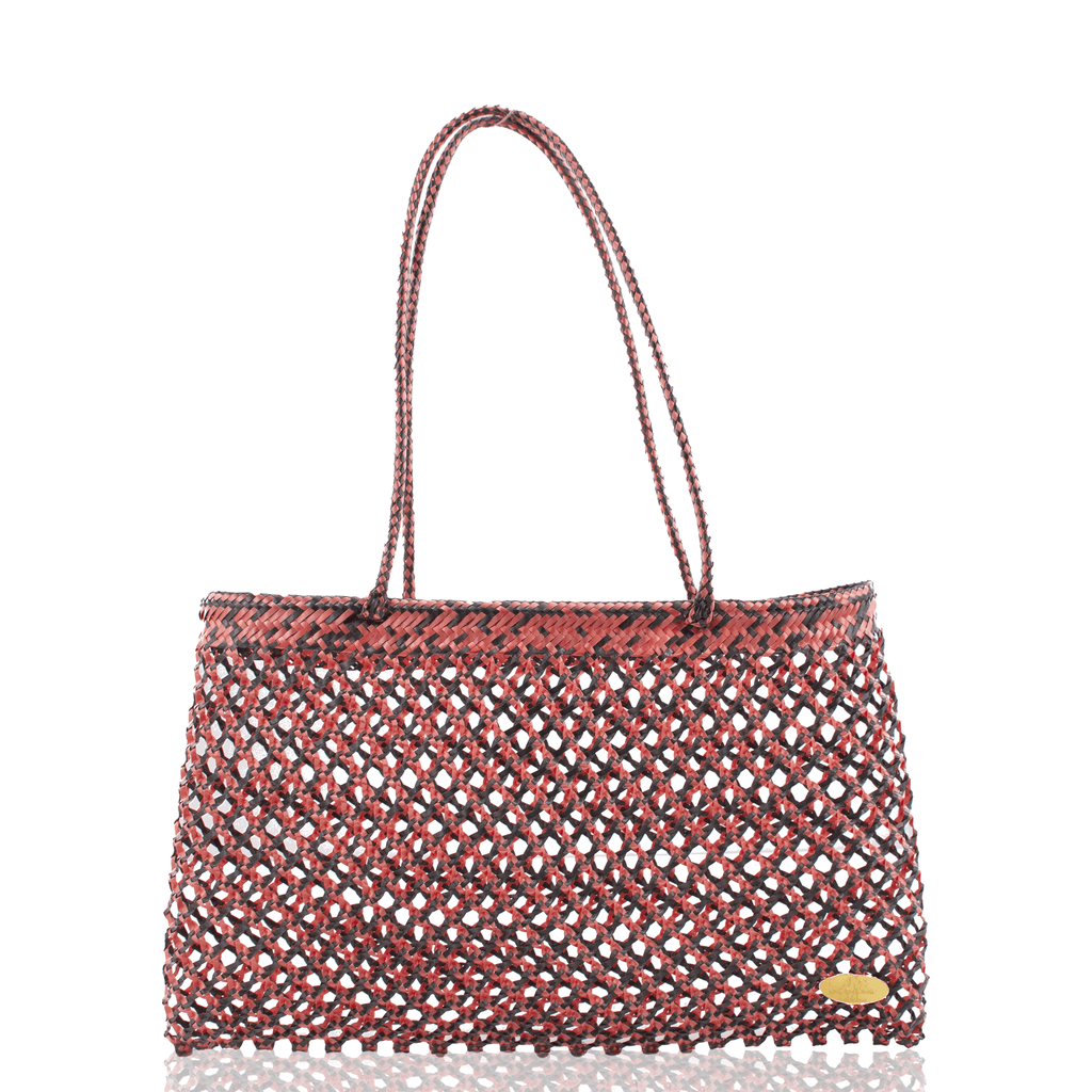 Calada Woven Mesh Bag in Spiced Pumpkin - Josephine Alexander Collective