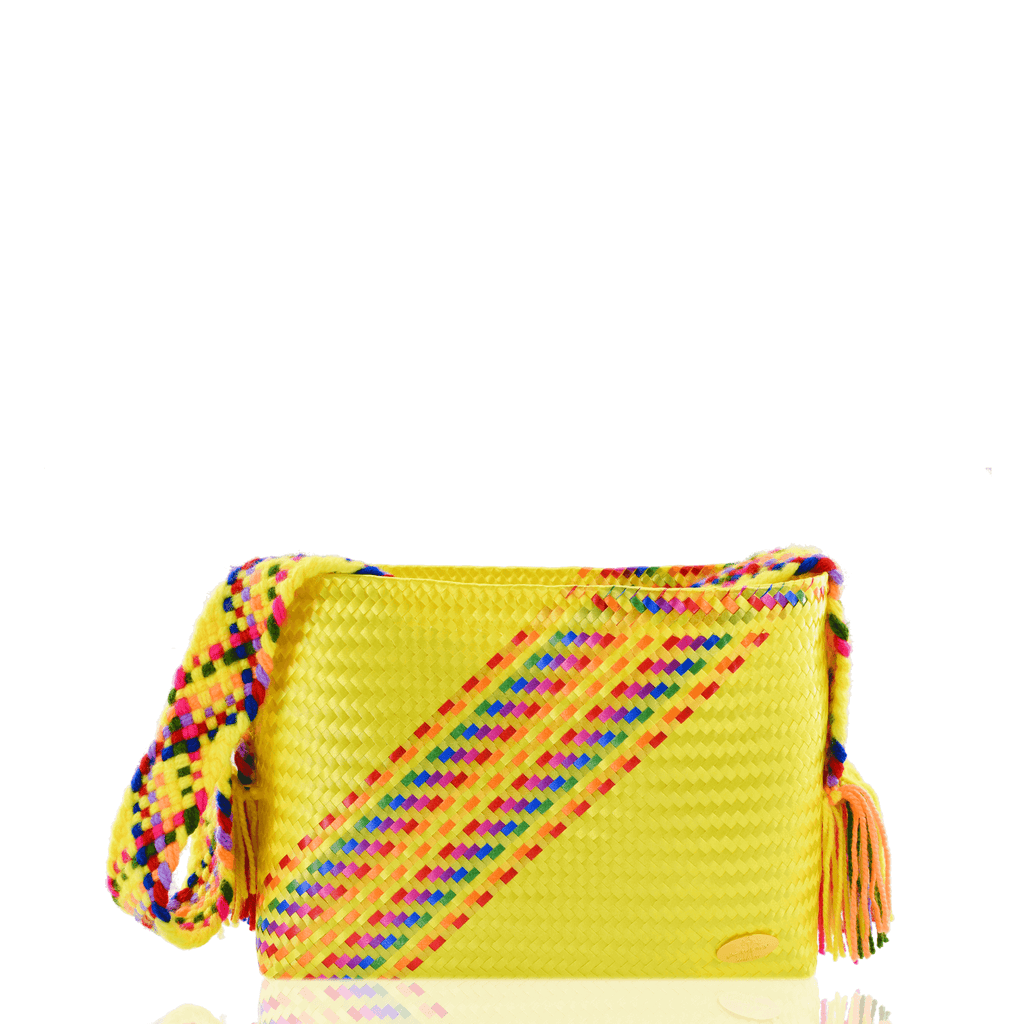 Colleen Crossbody in Yellow Splash of Rainbow - Josephine Alexander Collective