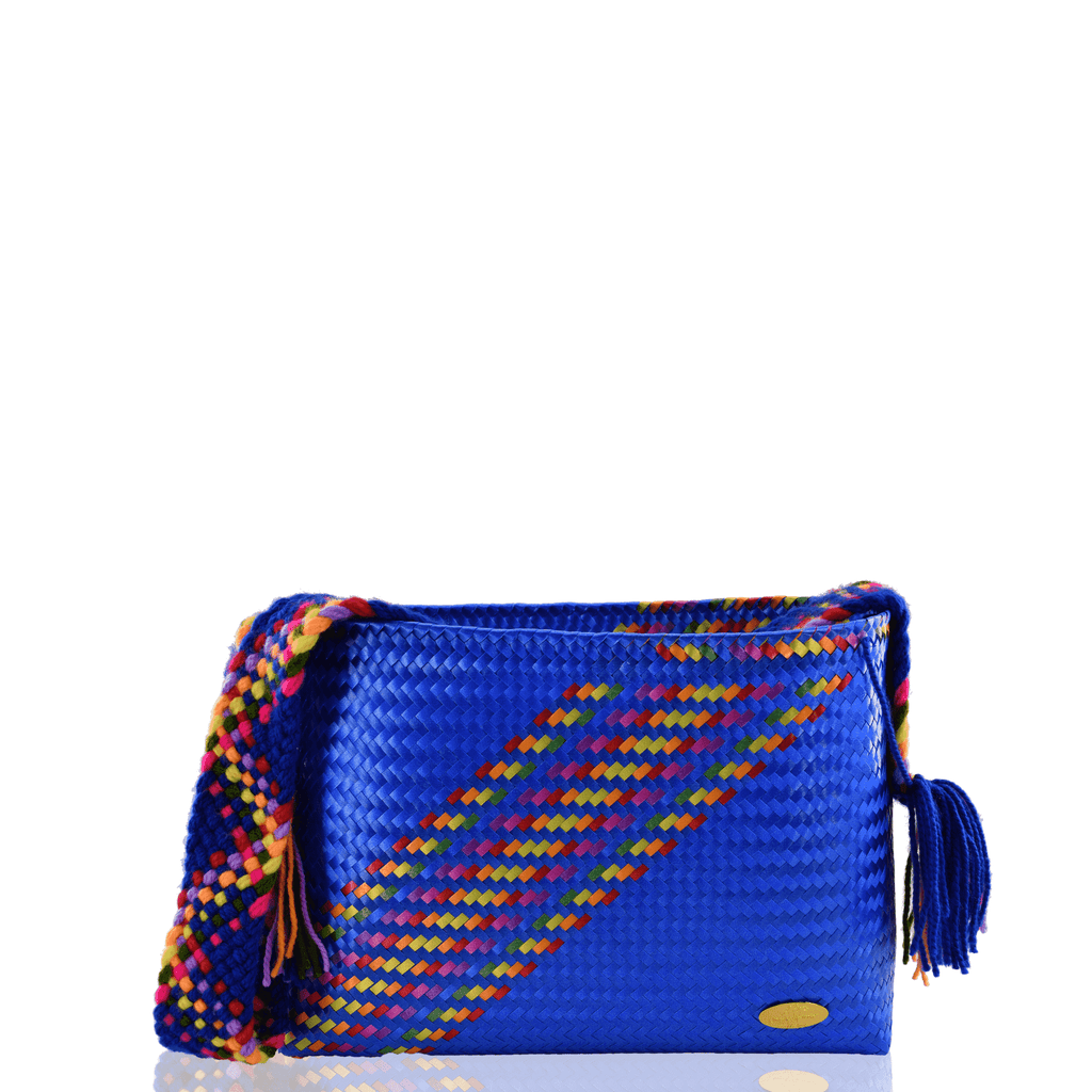 Colleen Crossbody in Blue Splash of Rainbow - Josephine Alexander Collective
