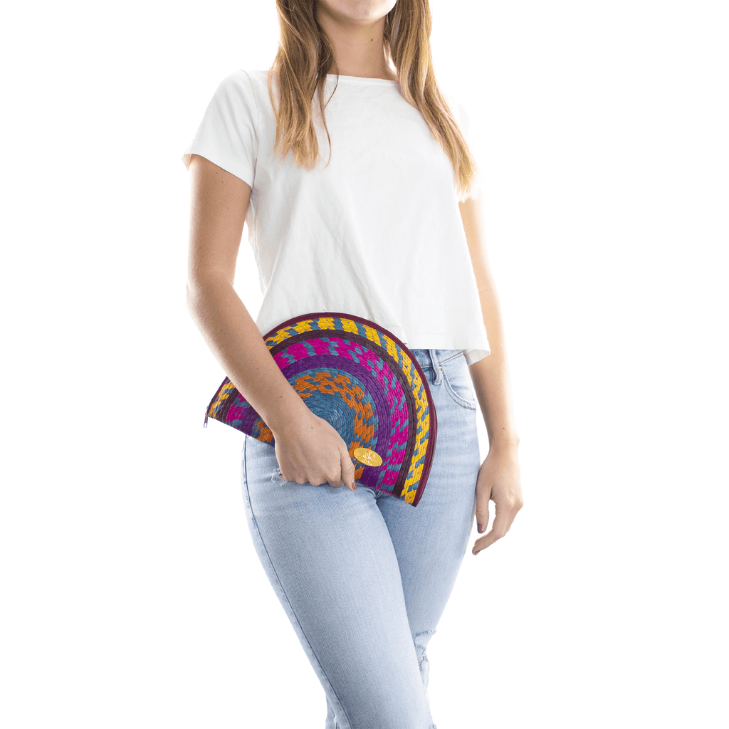 Sevillana Rainbow Straw Clutch # 8 - Josephine Alexander Collective