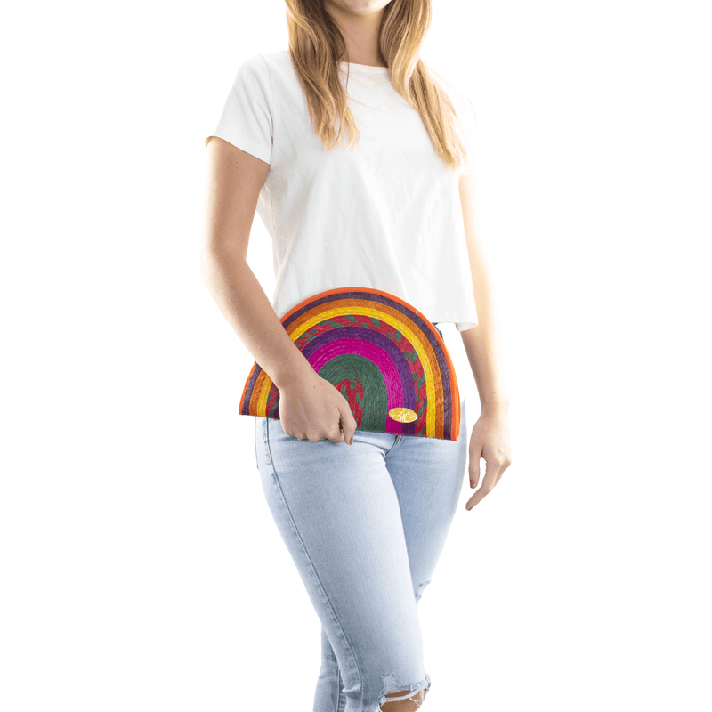 Sevillana Rainbow Straw Clutch #9 - Josephine Alexander Collective
