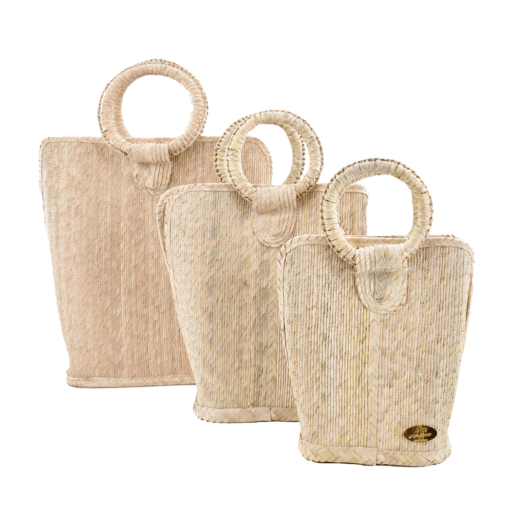 Quina Straw Bucket Bag in Natural - Josephine Alexander Collective