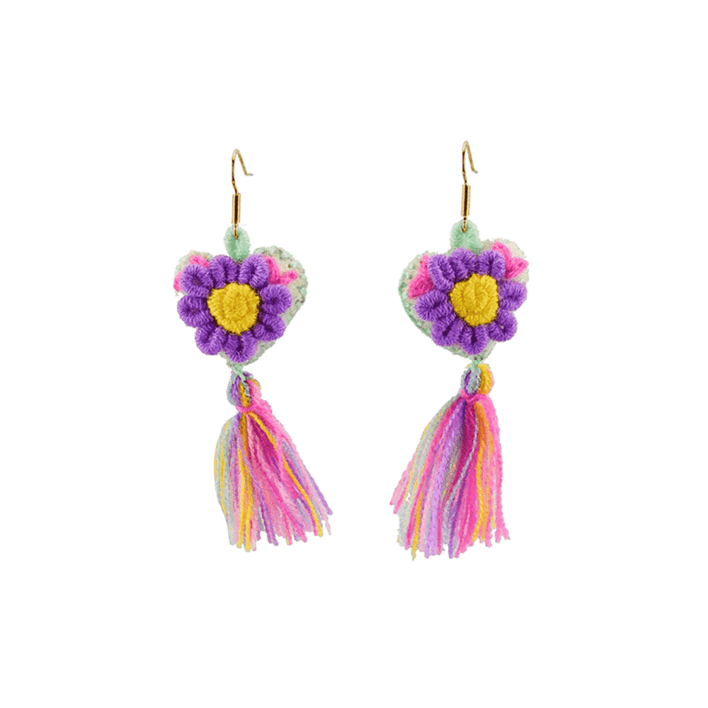The Love-ly Earrings in My Purple Daisy- Medium - Josephine Alexander Collective