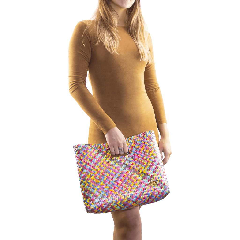 Palma Woven Hand Bag in Rainbow - Josephine Alexander Collective