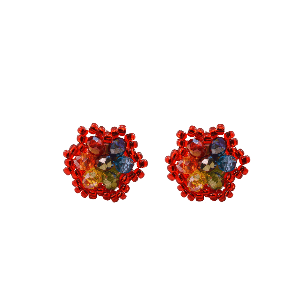 Celebration Stud Earrings in Red Rainbow - Josephine Alexander Collective