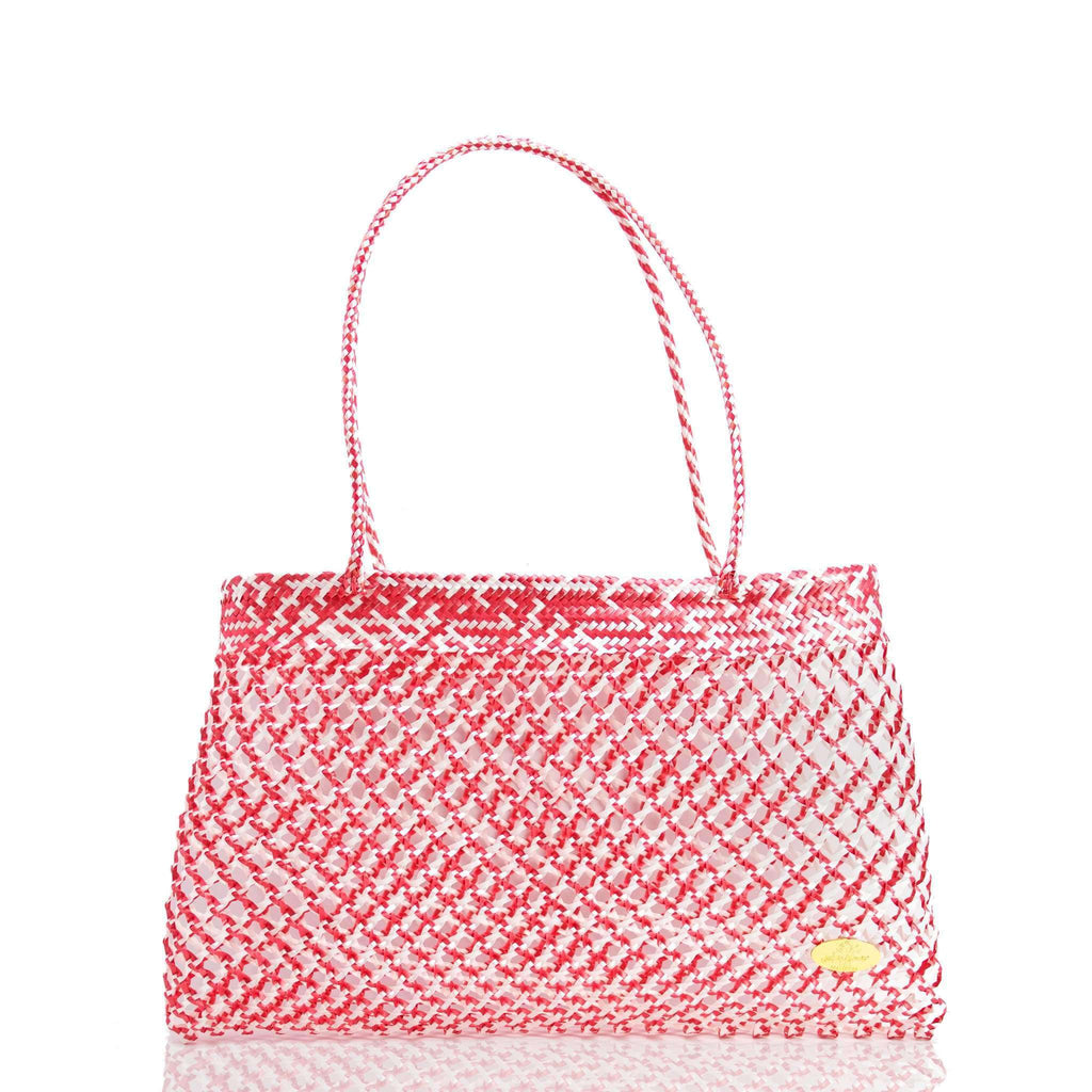 Calada Woven Mesh Bag in Red
