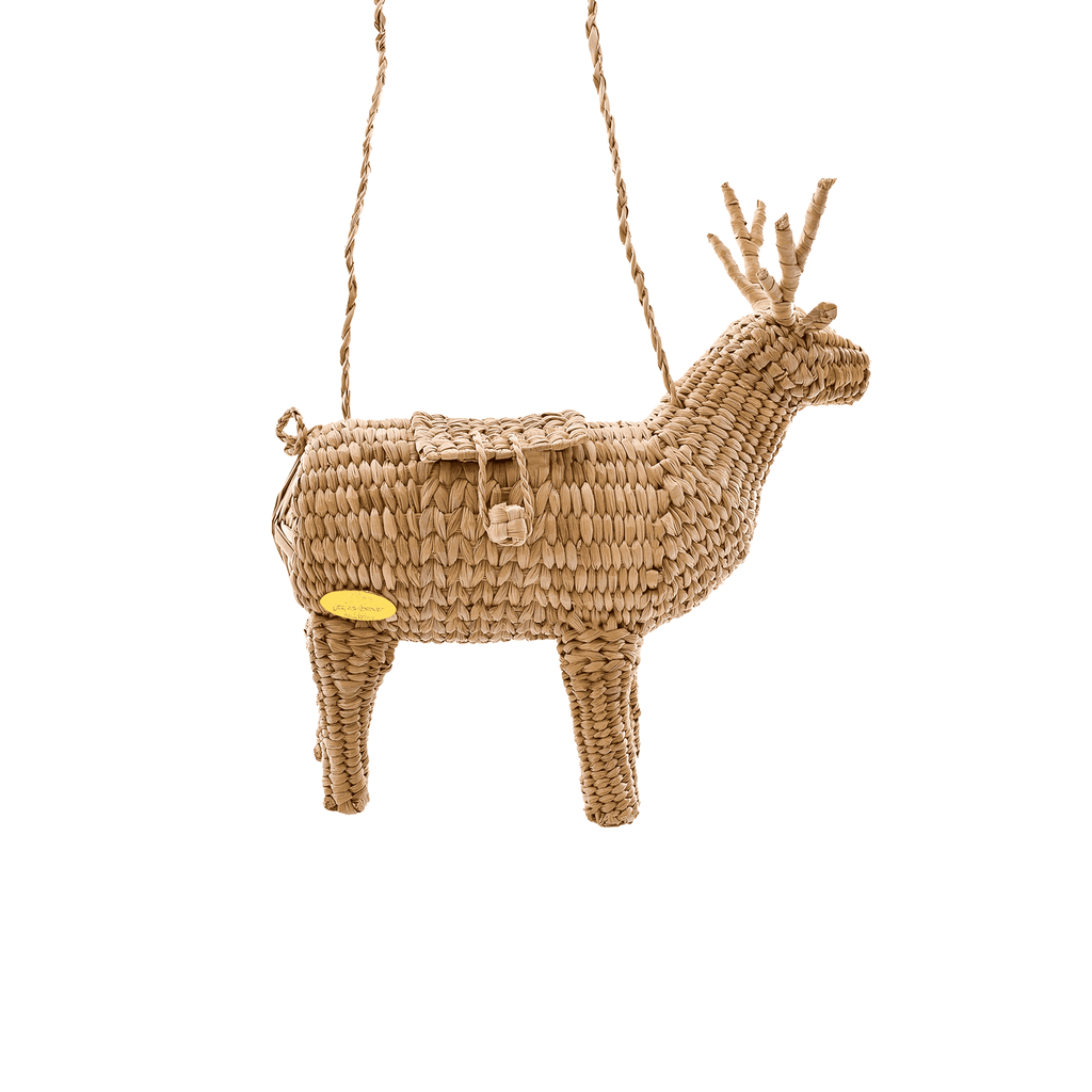 Dasher the Reindeer Straw Bag