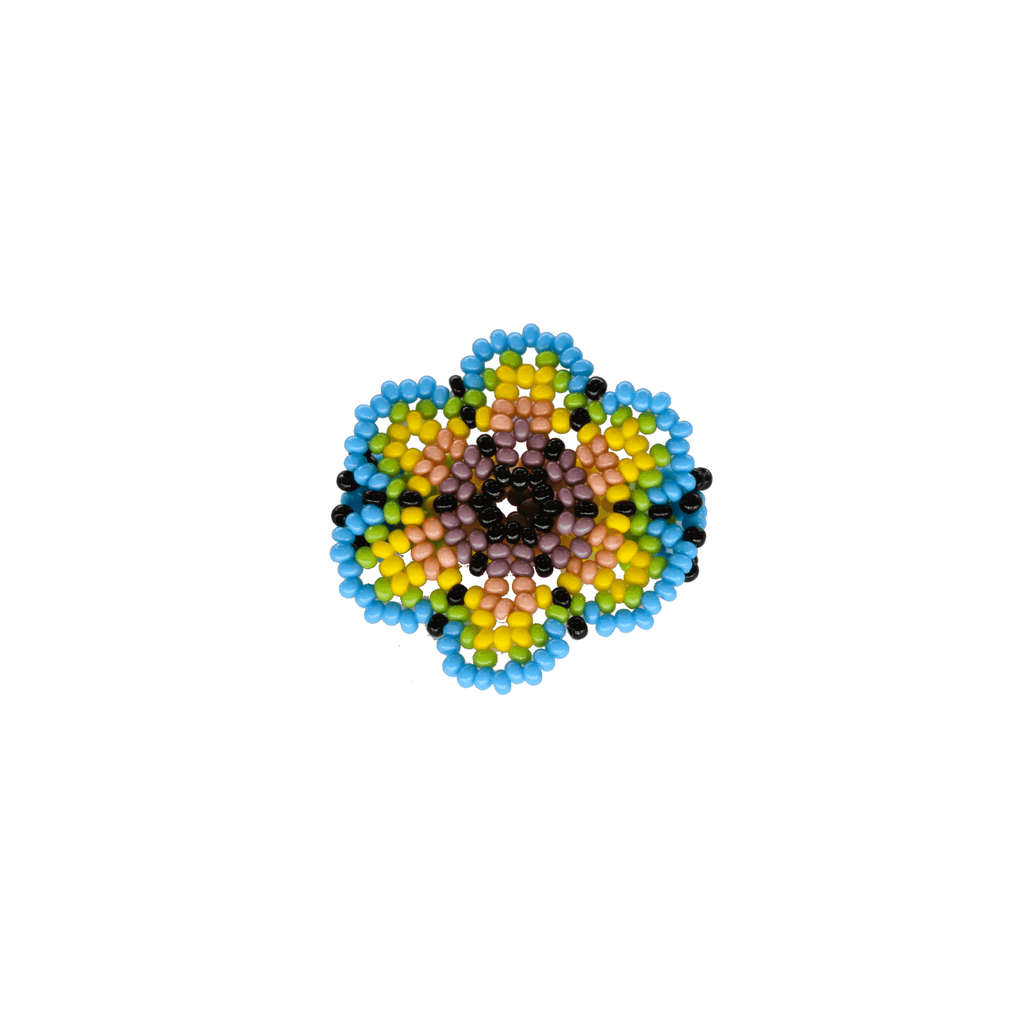 Beaded Flower Ring in Spring - Josephine Alexander Collective