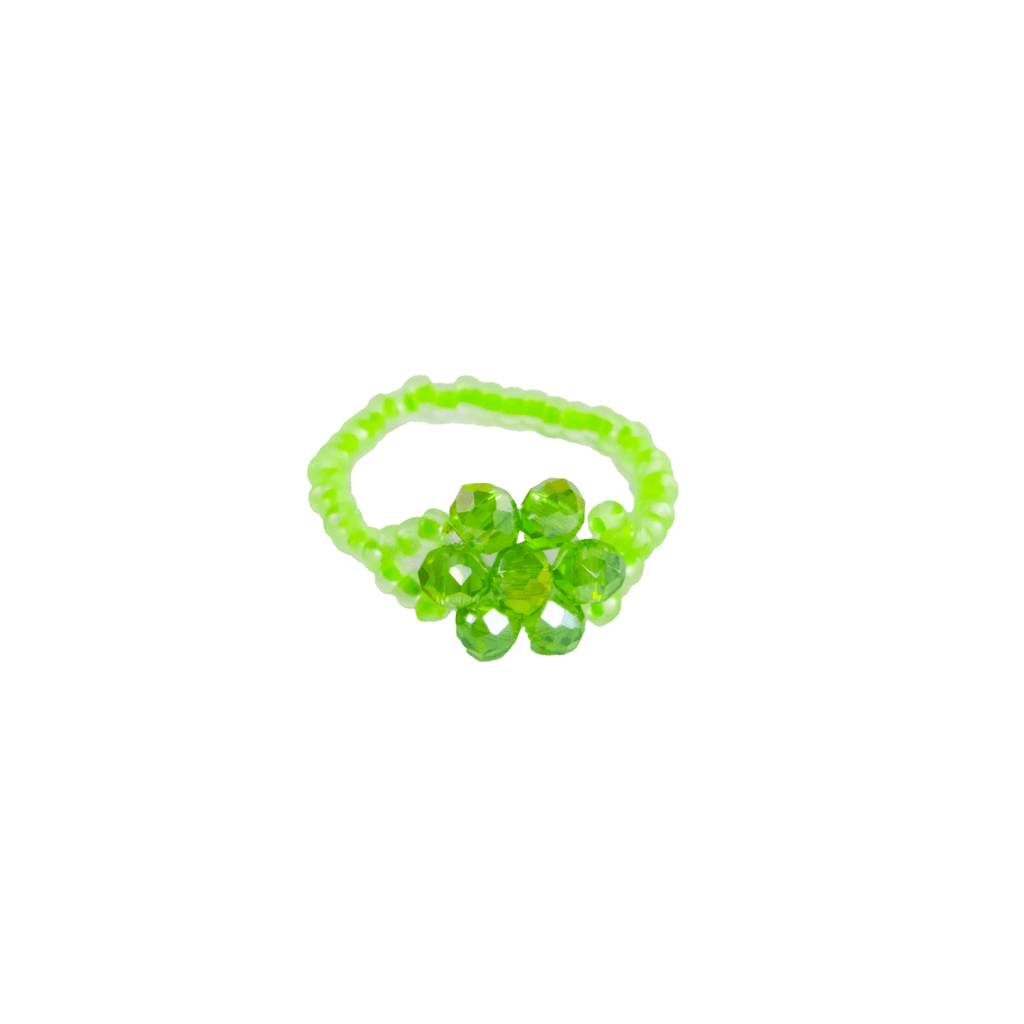 Flower Ring in Neon Green - Josephine Alexander Collective