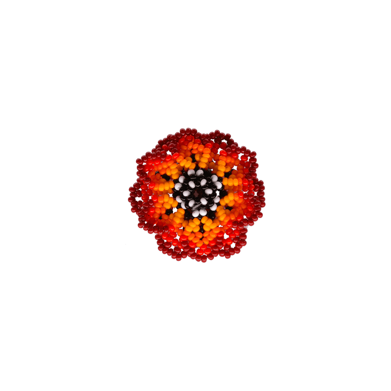 Beaded Wild Flower Ring in Fire - Josephine Alexander Collective