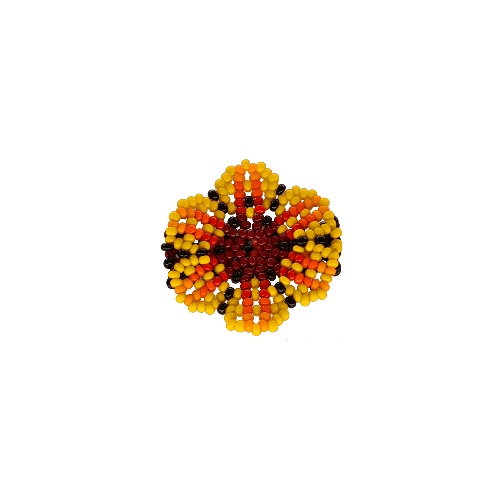 Beaded Flower Ring in Sunshine - Josephine Alexander Collective