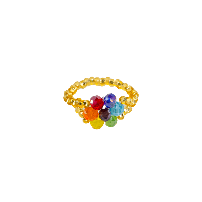 Flower Ring in Gold Rainbow - Josephine Alexander Collective