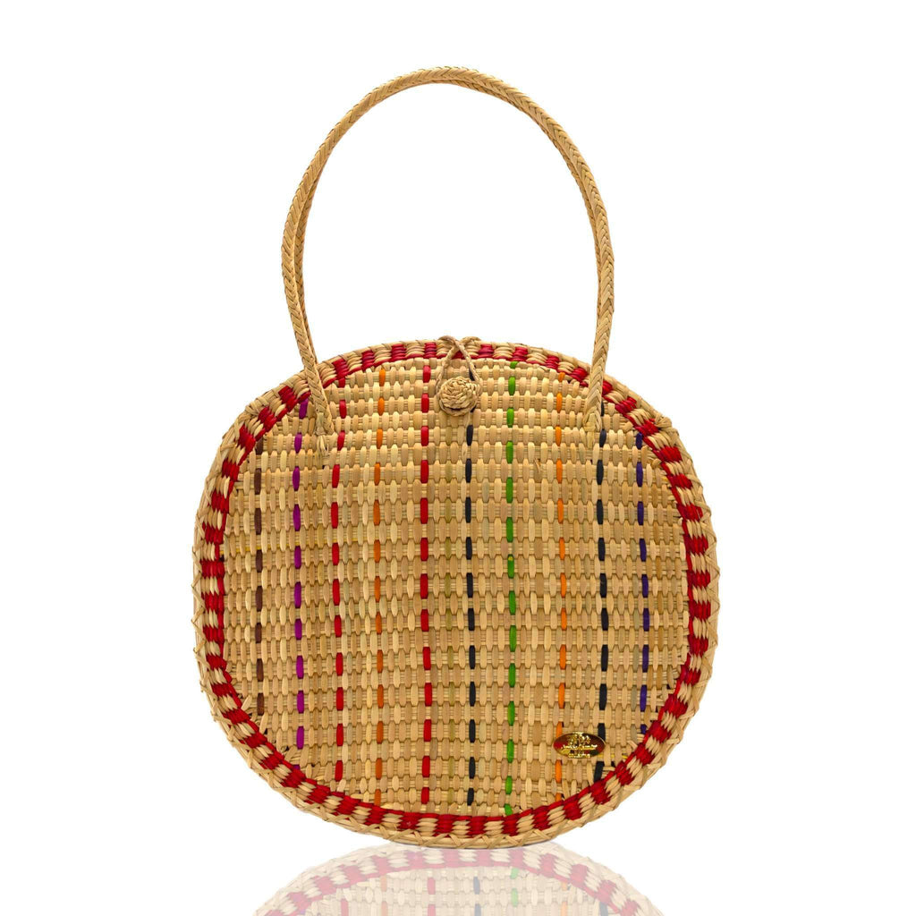 Luna Straw Bag in Salsa