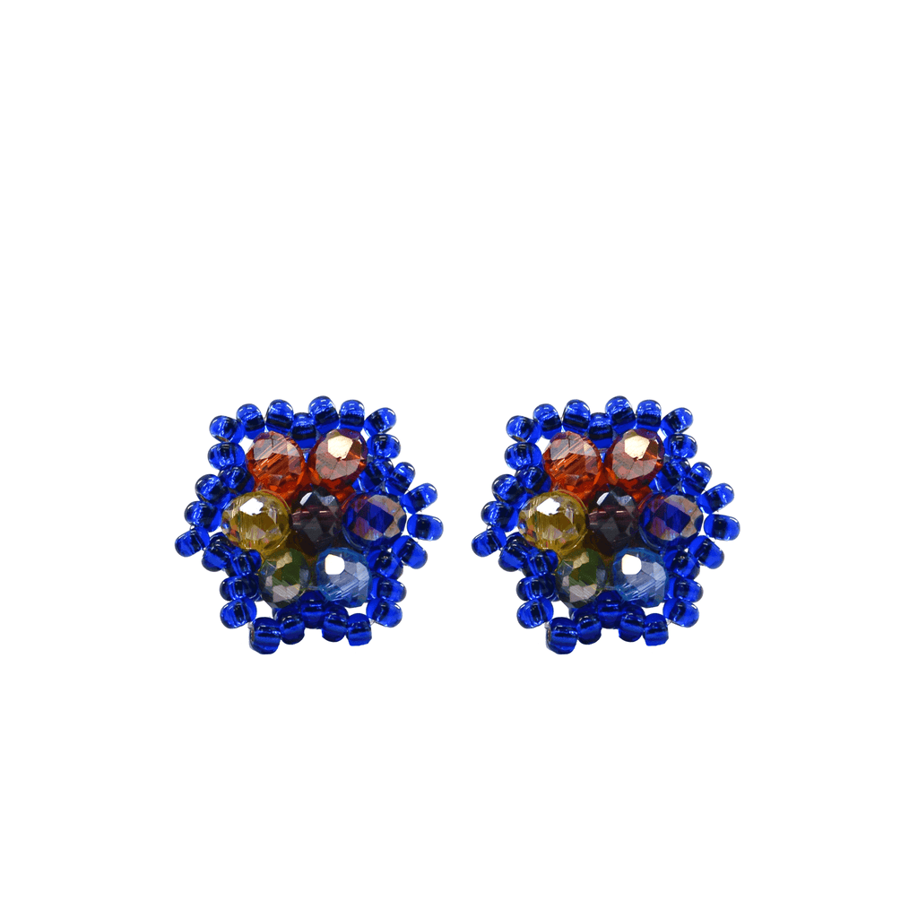 Celebration Stud Earrings in Royal Blue Rainbow - Josephine Alexander Collective