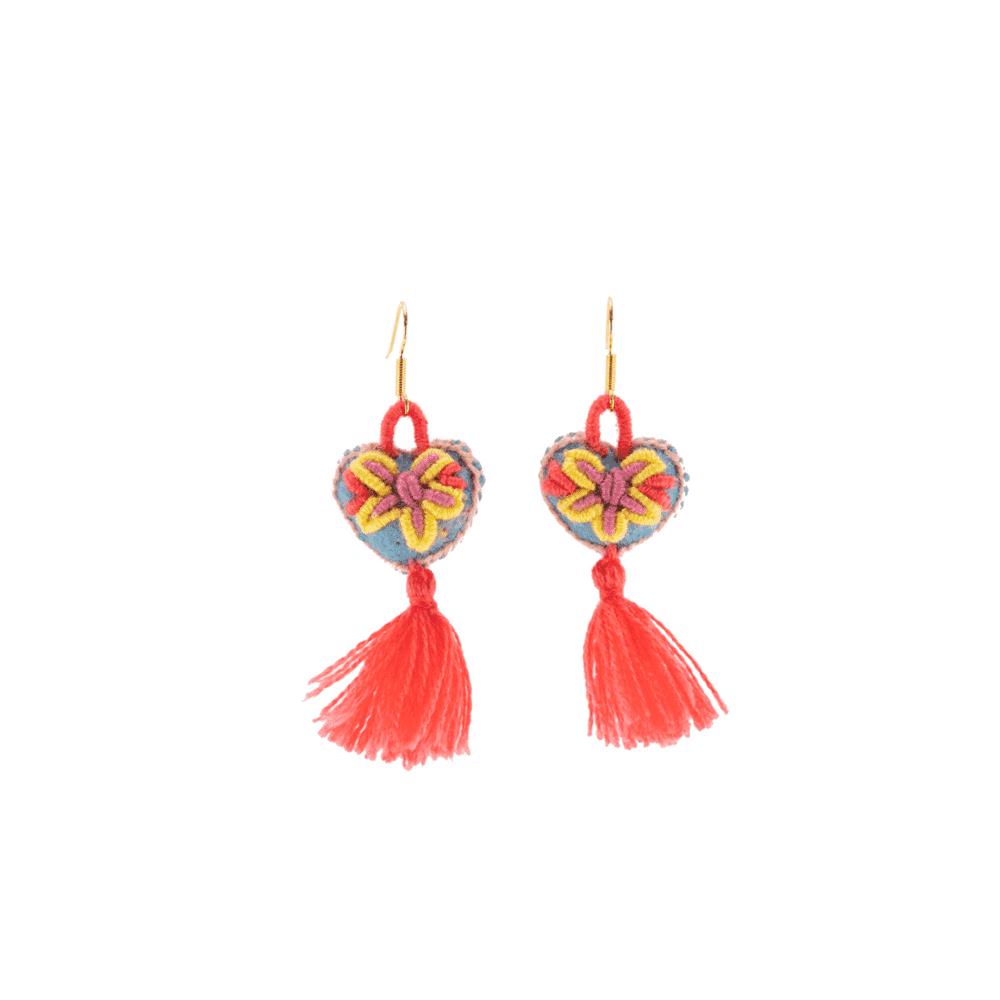 The Love-ly Earrings in Spring Coral- Small - Josephine Alexander Collective