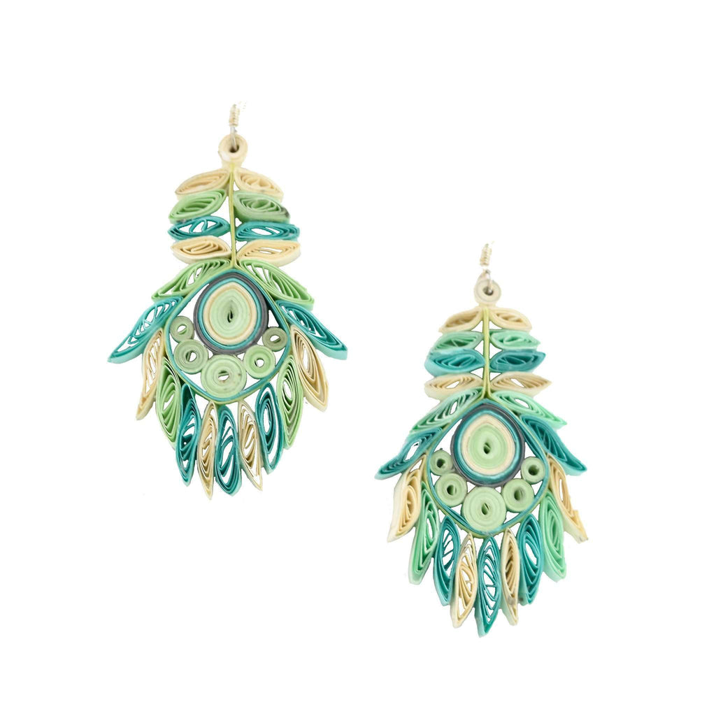 Josselyn Quilled Earrings in Seaspray