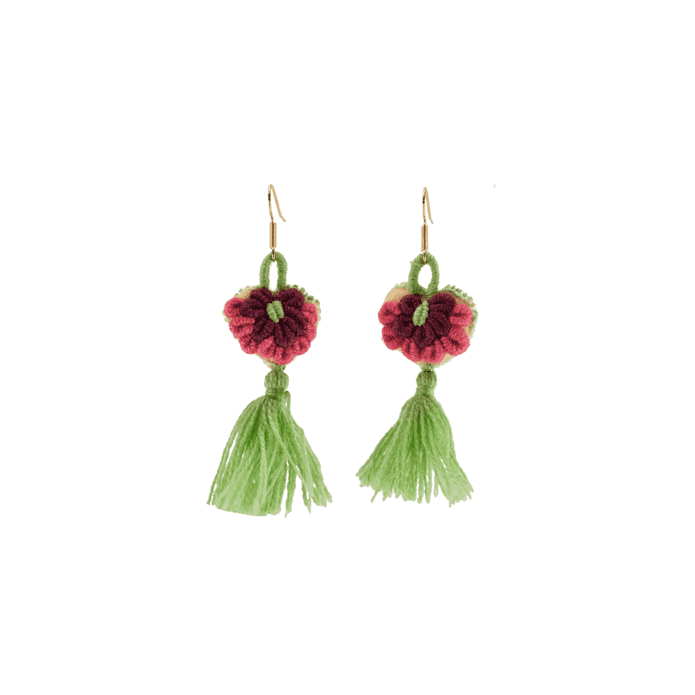 The Love-ly Earrings in Dusty Rose on Mint- Small - Josephine Alexander Collective