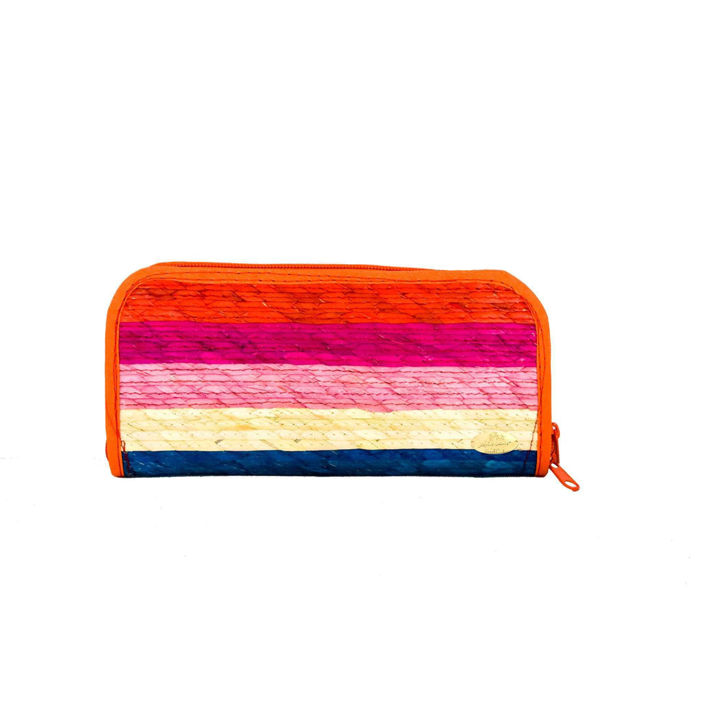 Cancun Straw Wallet in Sunrise