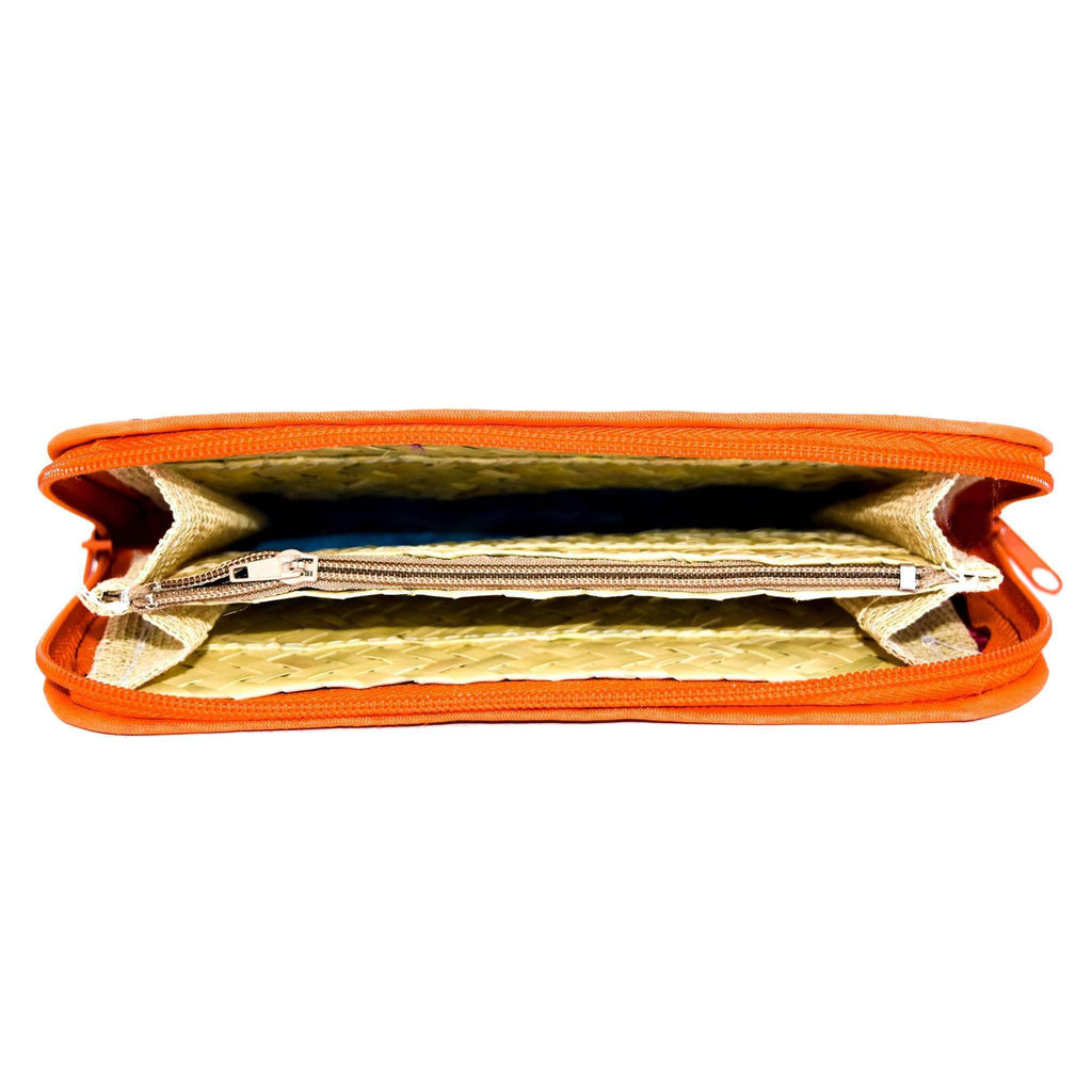 Cancun Straw Wallet in Sunrise - Josephine Alexander Collective