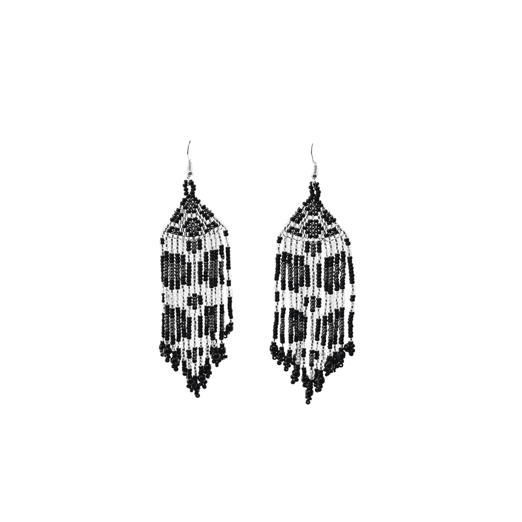 Wild Earrings in Snow Leopard - Josephine Alexander Collective