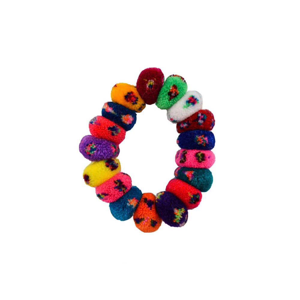 Pom Scrunchie in Rainbow Sprinkles - Josephine Alexander Collective