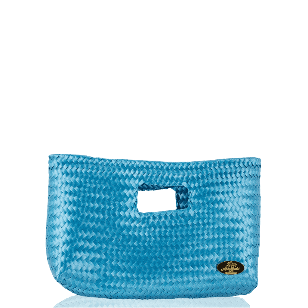 Alison Woven Clutch in Ice