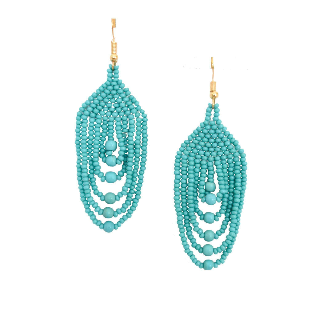 Empire Earrings in Turquoise